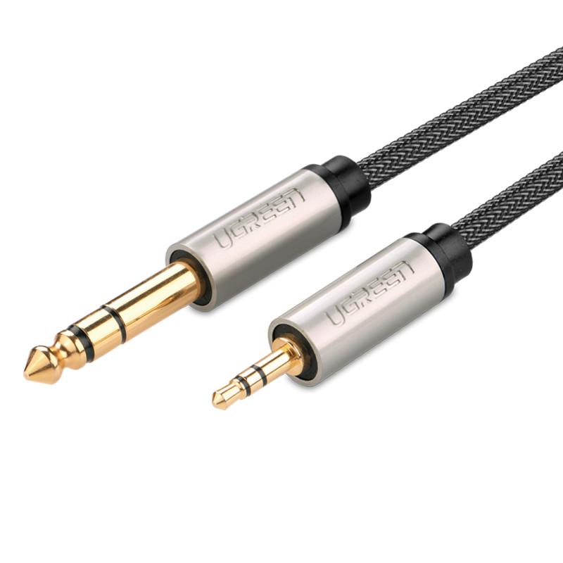 Dây âm thanh 3.5mm đực ra 6.5mm mạ vàng 24k cao cấp dài 3M UGREEN AV127 10629 - Hãng phân phối chính thức