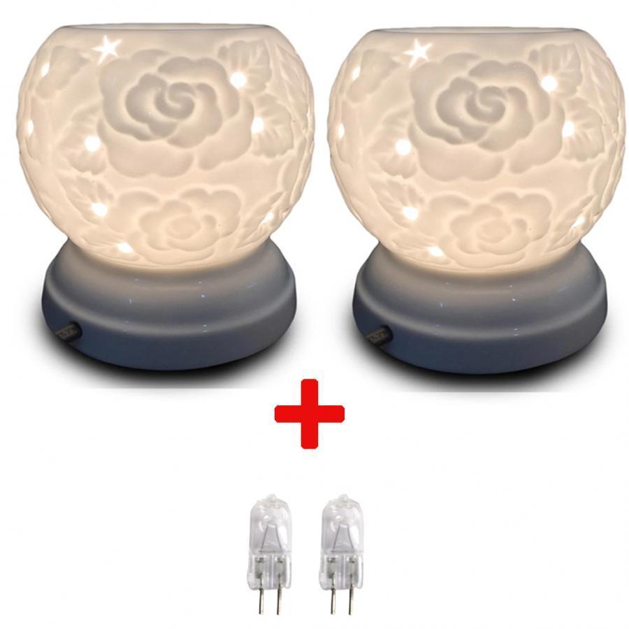 Combo 2 đèn xông tinh dầu MNB22 và 2 bóng đèn