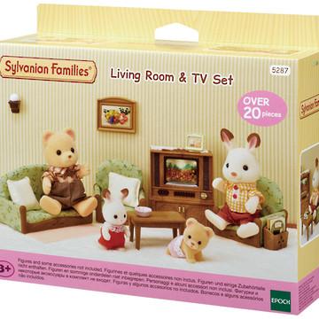 Sylvanian Families - Bộ Phòng Khách Và Ti Vi EP5287 Golden Kid