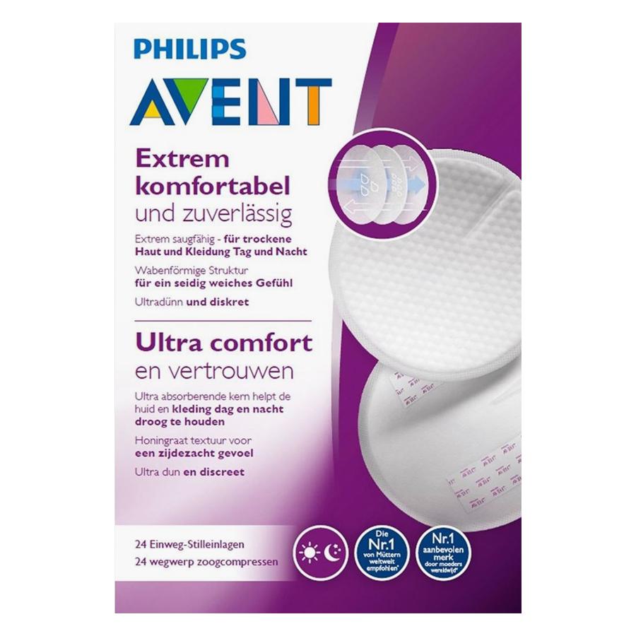 Miếng Lót Thấm Sữa Dùng 1 Lần Philips Avent (24 Miếng/ Hộp) - SCF254.24