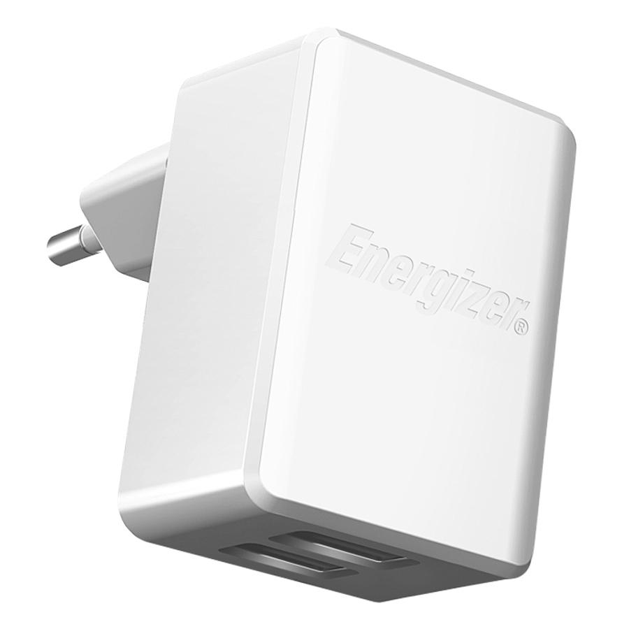Adapter Sạc Energizer HT 2.4A - ACA2BEUHWH3 - Hàng Chính Hãng