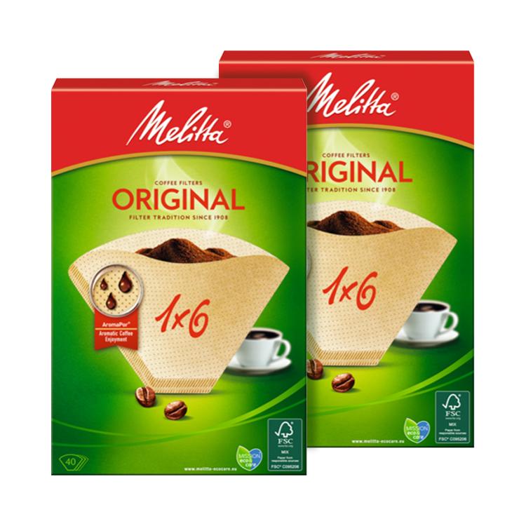 Combo 2 hộp giấy lọc cà phê Melitta 1X6