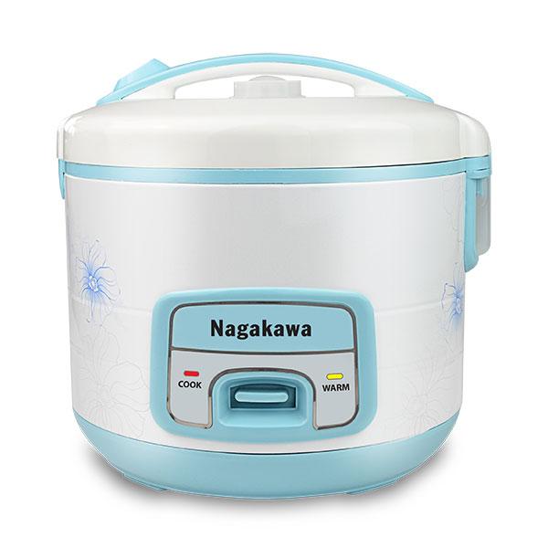 Nồi cơm điện Nagakawa NAG0113 trắng xanh