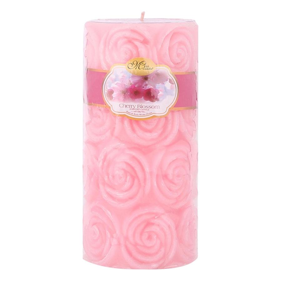 Nến Thơm Decor Hoa Hồng Strawberry Miss Candle Ftramart D7H15 (7 x 15 cm)