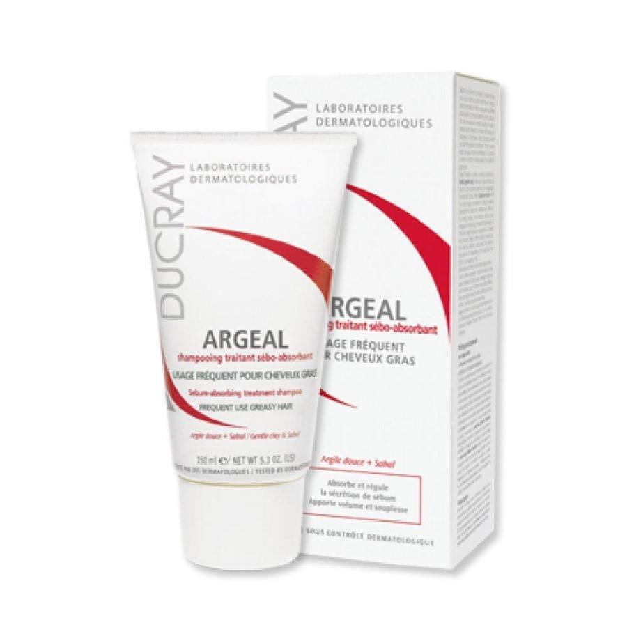 Dầu gội dạng kem cho da đầu nhờn Argeal Sebum-absorbing Treatment Shampoo Ducray 150ml