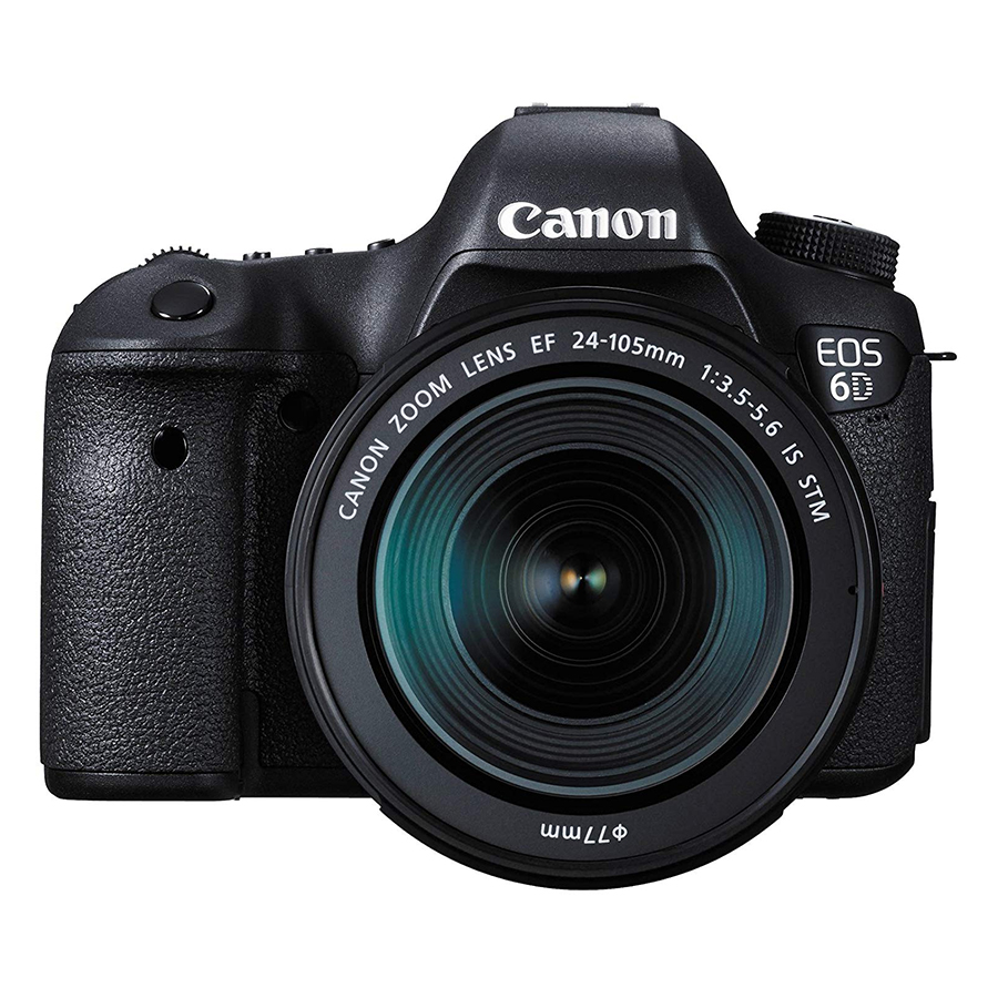 Máy Ảnh Canon 6D kit 24-105mm F3.5-5.6 IS STM (Hàng nhập khẩu) - Tặng thẻ 16GB + tấm dán LCD
