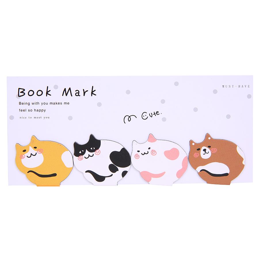 Bộ 4 Bookmark Magnet Mèo