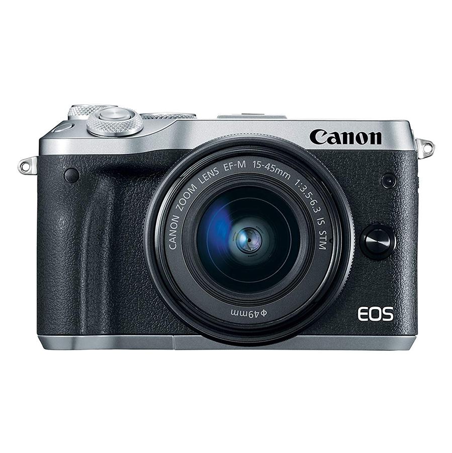 Máy Ảnh Canon M6 Kit 15-45mm IS STM (Hàng Chính Hãng) - Tặng Thẻ 16G + Túi Máy + Tấm Dán LCD
