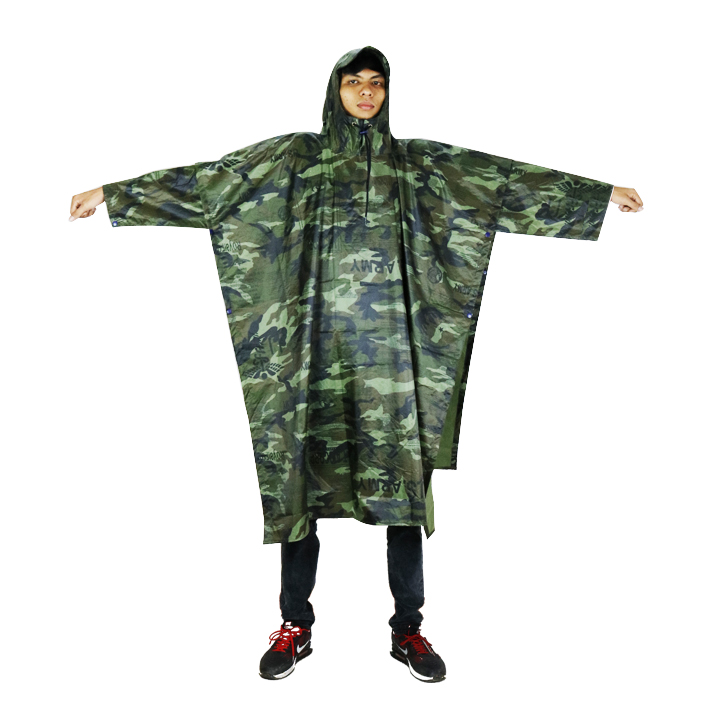 Áo mưa cánh dơi vải dù lính cao cấp 1m4