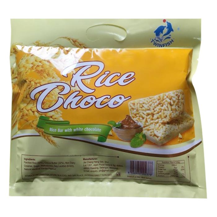 Bánh Yến Mạch Socola Twinfish Rice Bar With White Chocolate (250g)  - Hàng Nhập Khẩu