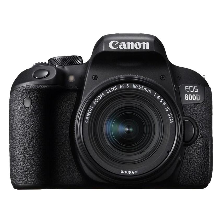 Máy Ảnh Canon 800D Kit 18-55mm IS STM - Hàng Chính Hãng (Tặng Thẻ 16GB + Túi Máy + Tấm Dán LCD)