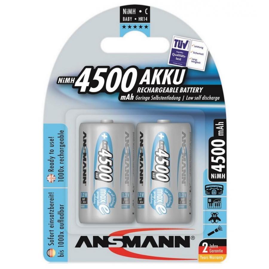 Pin trung sạc ANSMANN C4500 - (Baby C) vỉ 2 viên