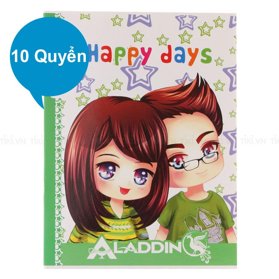 Lốc 10 Quyển Tập Happy Days TIE THD-O16 Kẻ Ngang 4 Ly 96 Trang - Mẫu Ngẫu Nhiên