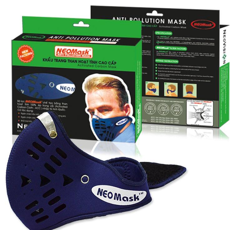 Khẩu trang than hoạt tính cao cấp chống bụi kháng khuẩn chống độc Neovision NeoMask