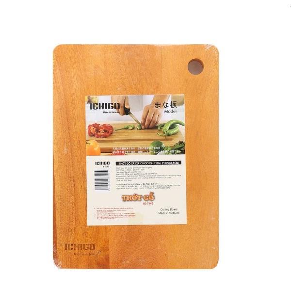 Thớt gỗ xà cừ nguyên khối Ichigo IG-7165 (21 x 29 cm)