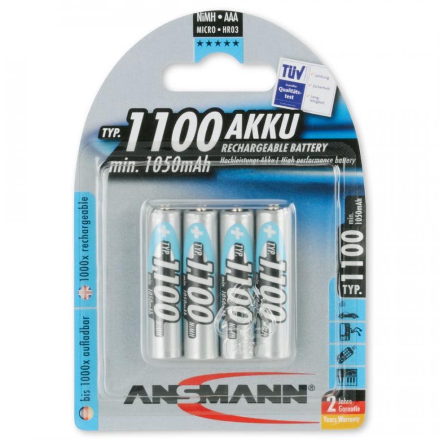 Bộ 4 Pin Sạc AAA 1100 BL4 ANSMANN