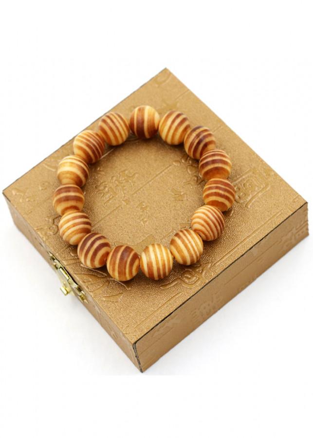 Vòng tay chuỗi hạt gỗ Huyết rồng 15 ly 16 hạt kèm hộp gỗ