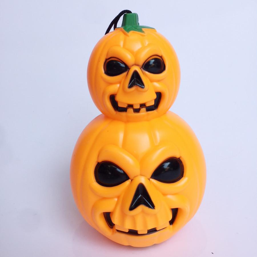 Đèn lồng 2 quả bí ngô có nhạc đèn trang trí Halloween