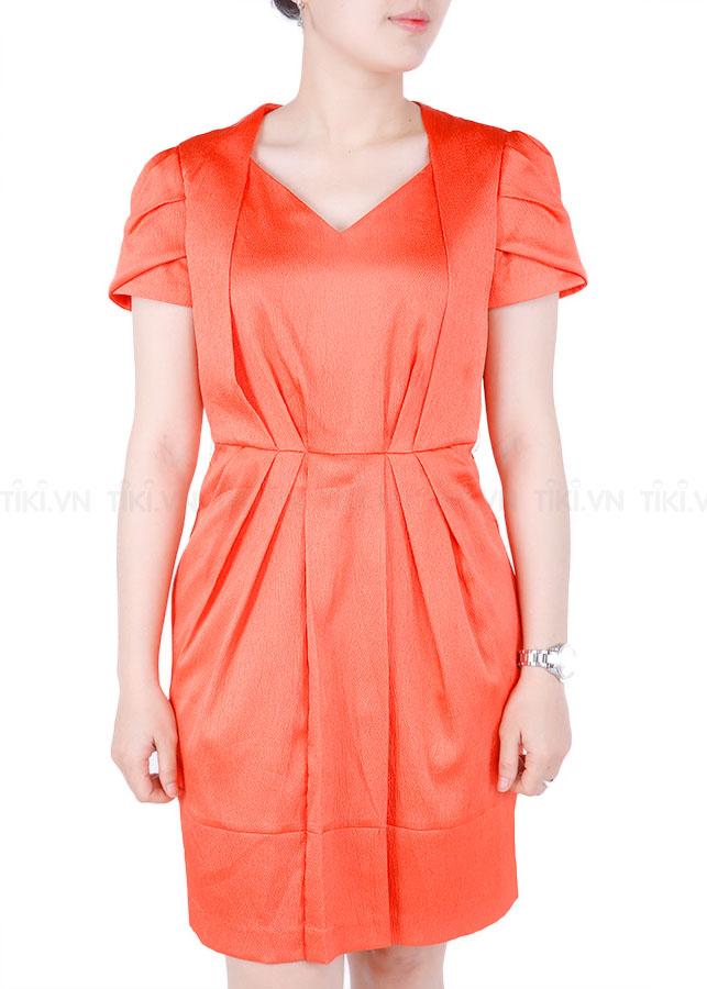 Áo Váy Nữ Hàn Quốc Orange Factory VLOP2251 - Cam