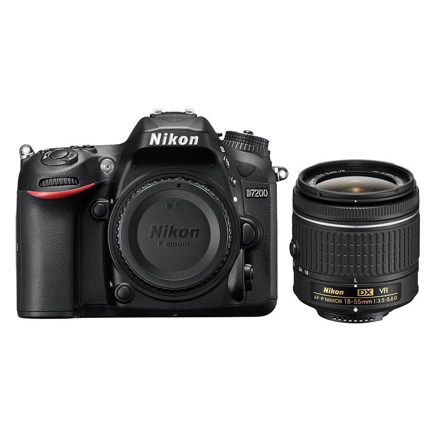 Máy Ảnh Nikon D7200 Kit 18 - 55mm VR II (24.2 MP) (Hàng Nhập Khẩu) - Tặng Thẻ 16G + Tấm Dán LCD