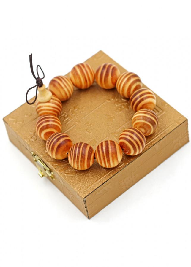 Vòng tay chuỗi hạt gỗ Huyết rồng 20 ly hồ lô kèm hộp gỗ
