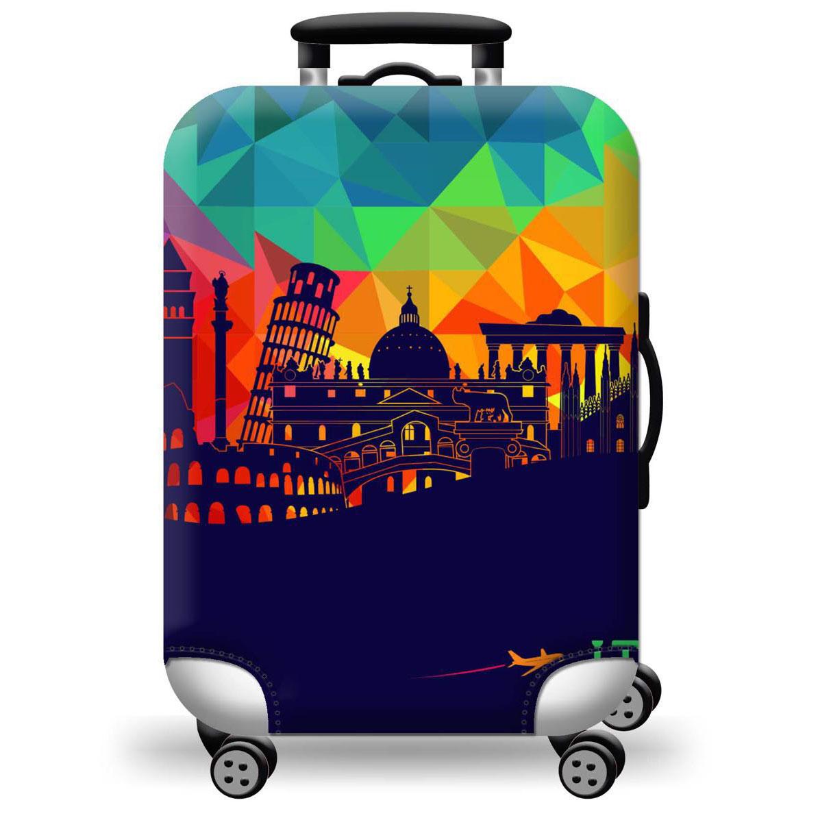 Túi bọc bảo vệ vali -Áo vỏ bọc vali - Xanh Đỏ
