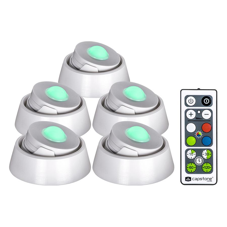 Bộ Đèn LED Đổi Màu Duracell 5 LED Puck Điều Khiển Từ Xa - Hàng Nhập Khẩu