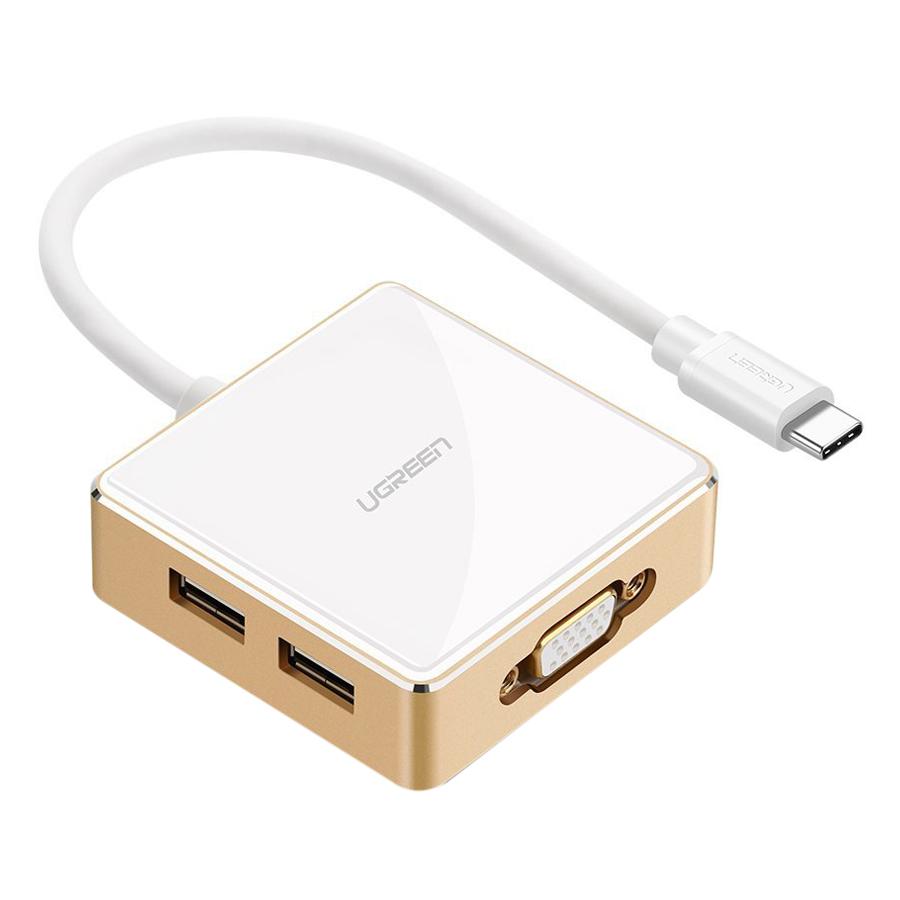 Cáp USB-C To 3 USB + VGA + Type C Ugreen (30442)