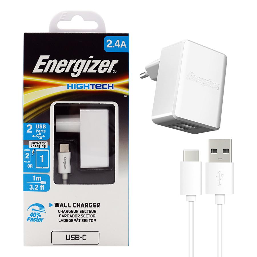 Bộ Adapter Sạc 2.4A Và Cáp Sạc Micro USB Energizer - ACW2BEUHMC3 - Hàng Chính Hãng