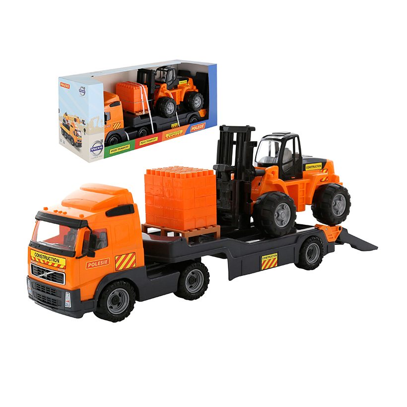 Xe tải kết hợp xe nâng đồ chơi PowerTruck – Polesie Toys