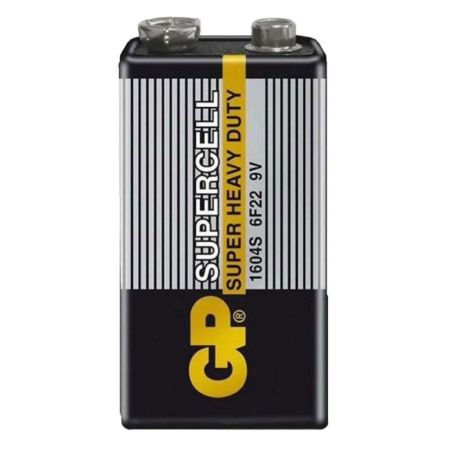 Pin GP Carbon Zinc Supercell 9V GP1604S-2-G55 (1 Viên/ Vỉ)