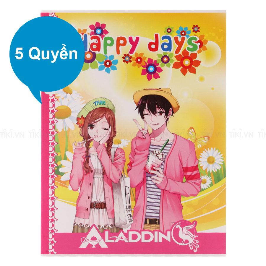 Lốc 5 Quyển Tập Happy Days TIE THD-026 Kẻ Ngang 4 Ly 200 Trang - Mẫu Ngẫu Nhiên