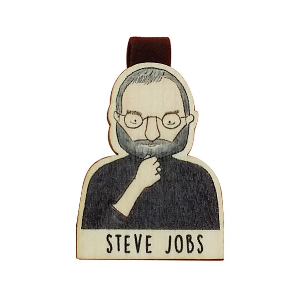 Bookmark gỗ nam châm Steve Jobs