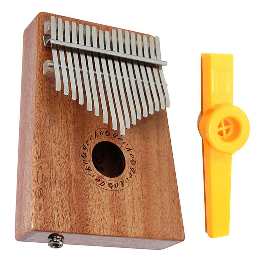 Đàn Kalimba 17 Phím Gỗ Mahogany Gecko K17MEQ Kèm Kèn Kazoo DreamMaker (Có EQ)