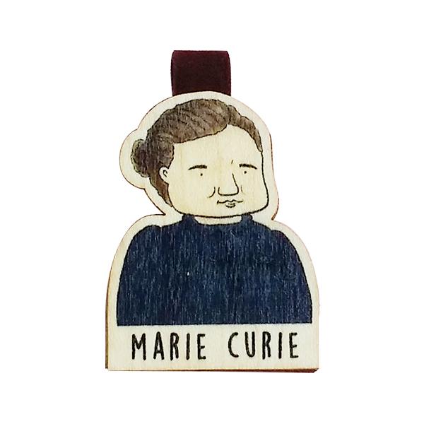 Bookmark gỗ nam châm Marie Curie