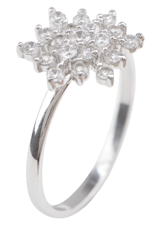 Nhẫn Nữ Hoa Tuyết Gix Jewelry GR013 - Trắng