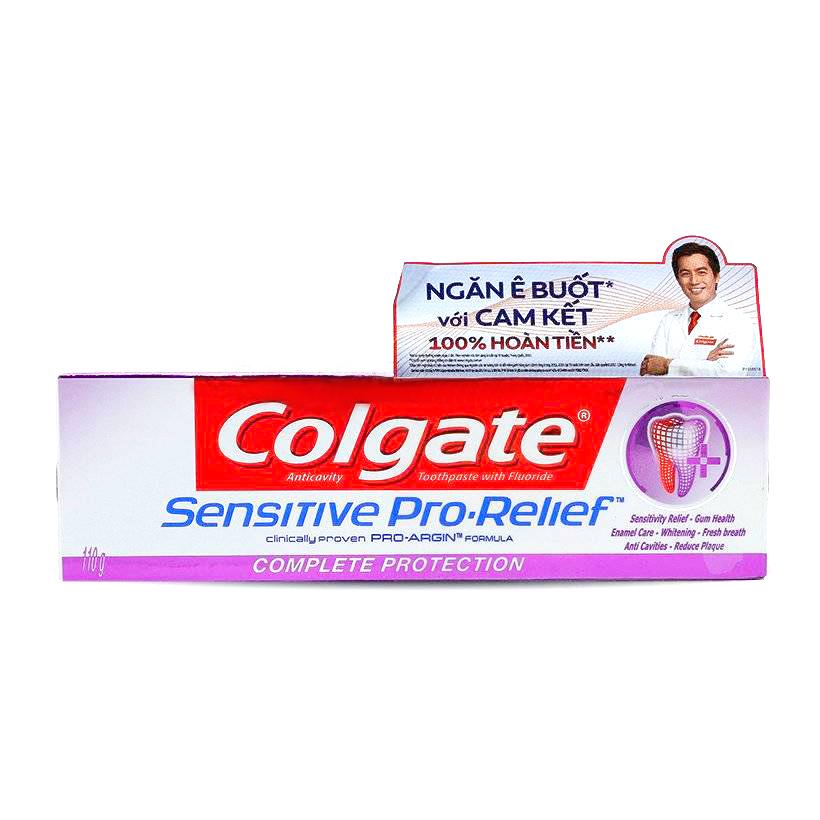 Kem Đánh Răng Colgate Sensitive Pro Relief Complete Protection 110g ngăn ê buốt và bảo vệ toàn diện