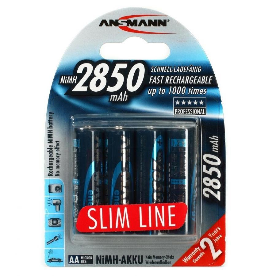 Pin Sạc 2850 Slim-US ANSMANN (Vỉ 4 Viên)