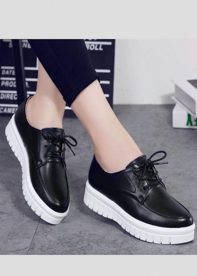 Giày SNK nữ cao 5p siêu mềm siêu nhẹ da cao cấp màu đen
