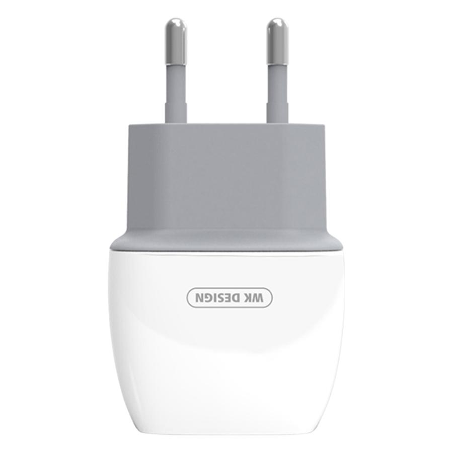 Adapter Sạc WK 2 Cổng USB Caddy Charger WP-U05 - Hàng Chính Hãng