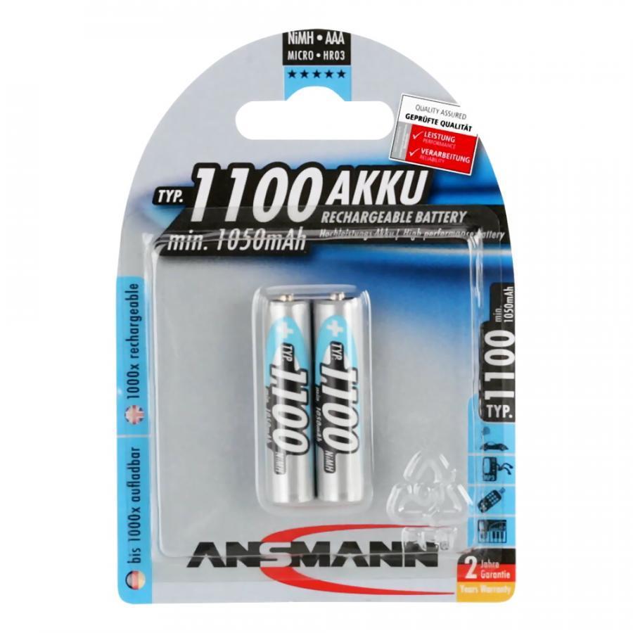 Bộ 2 Pin Sạc AAA 1100 BL2 ANSMANN