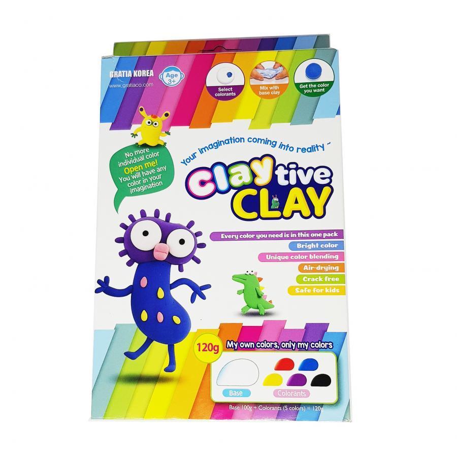 Sáp nặn làm từ bột mì Gratia Claytive Clay SGC-01 - Tự phối màu