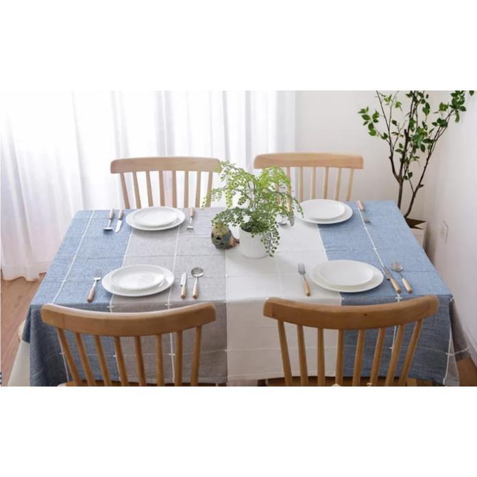 Khăn trải bàn ăn gia đình bằng vải cao cấp Love house decor GHS-6297