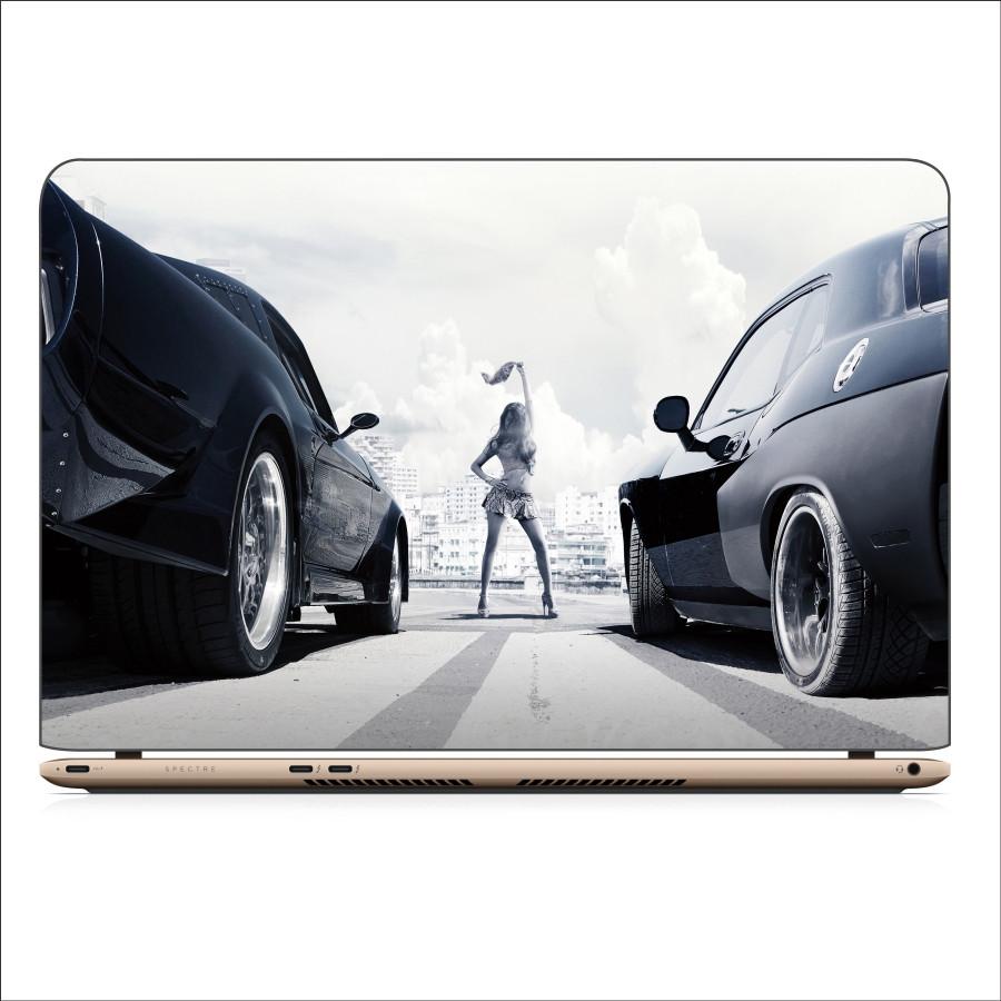 Miếng Dán Skin In Decal Dành Cho Laptop - Fast and Furious - Mẫu 1