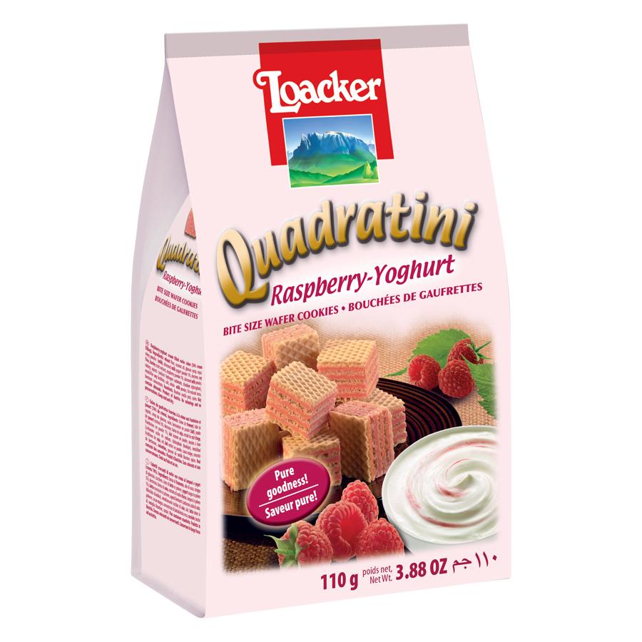 Bánh Loacker Quadratini Raspberry Yoghurt (110g)