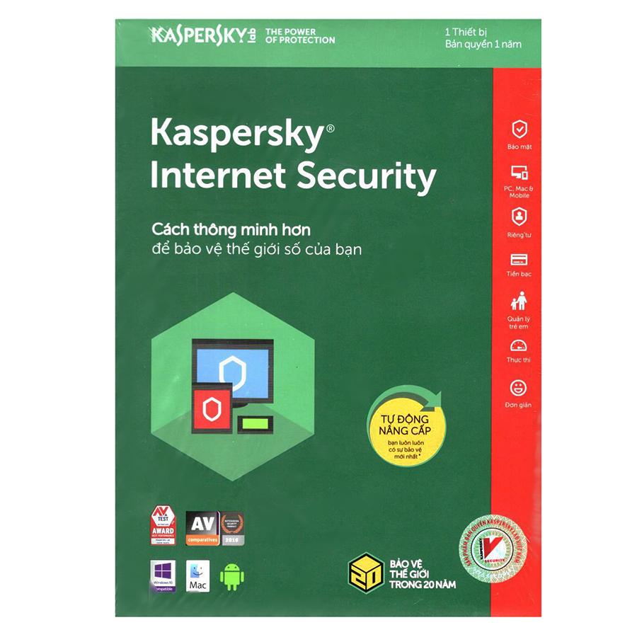Kaspersky Internet Security Cho 1 Máy Tính - KIS1U