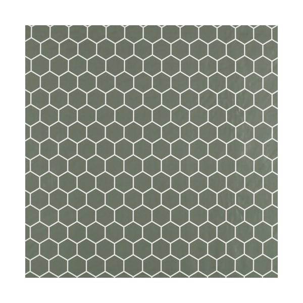 Tấm Trải Bàn Skogsalat Nhựa PVC Họa Tiết Tổ Ong Màu  Xanh R140cm