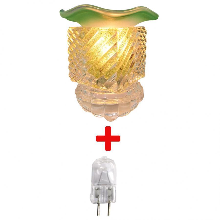 Đèn xông tinh dầu thủy tinh vuông và 1 bóng đèn (Giao màu ngẫu nhiên)