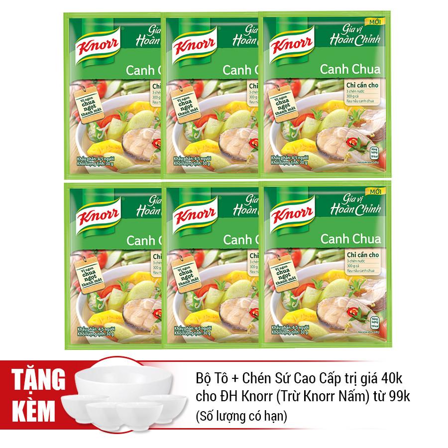 Combo 6 Gói Knorr Gia Vị Hoàn Chỉnh Canh Chua (30g) - 21006088
