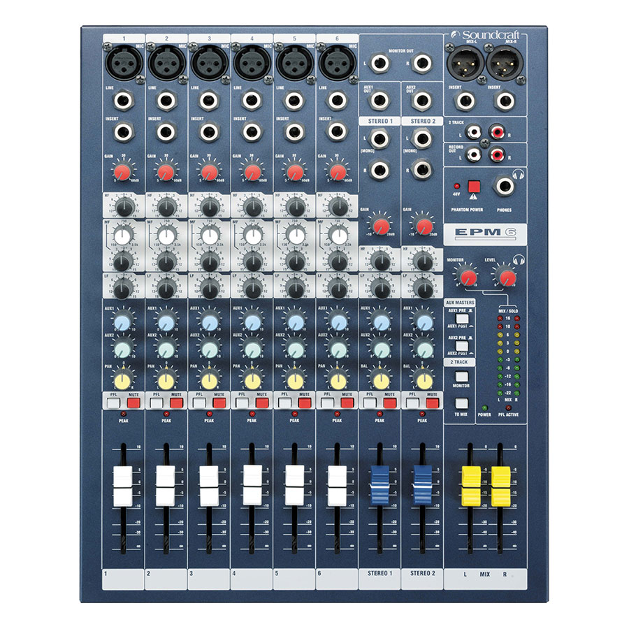 Bộ Trọn Âm Thanh Soundcraft EPM6CH Console